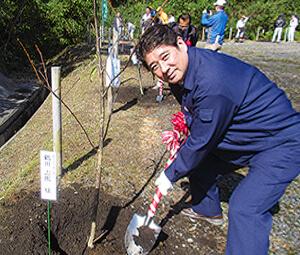 大隅地区植樹祭にて